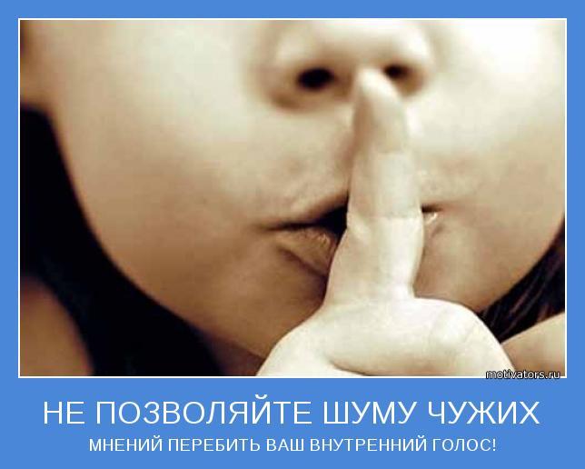 Не позволяйте шуму чужих мнений перебить ваш внутренний голос
